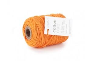 Virvelė medvilninė oranžinė ritinys 50 metrų 2 mm storis