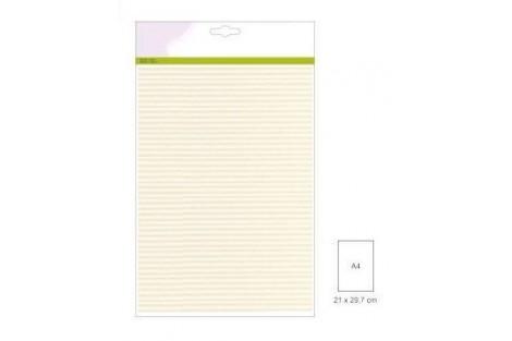 Dekoratyvinis popierius skrebinimui rinkinys velveto struktūra 10 vnt. A4 250 gr.