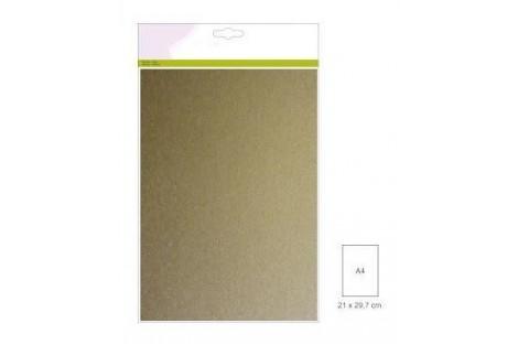 Dekoratyvinis popierius skrebinimui aukso spalva 10 vnt. A4 220 gr.