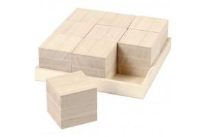 Wooden cubes 4x4 cm.