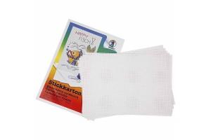 Siuvinėjimo kortelės paveiksliukų kūrimui 23x33 cm. 10 vnt.