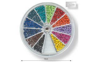 Decorative eyelets kit 12 colours 300 units
