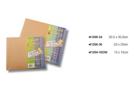 Albumas skrebinimui ar dekupažui natūralus 15x15 cm.
