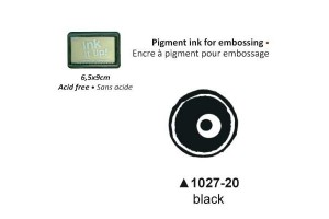 Pigment ink for embossing