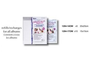 Memory book refills 10 pcs. 15x15 cm.