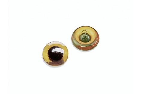 Prisiūnamos stiklinės akys 14 mm. pora