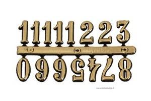 Skaičiai laikrodžiui arabiški 9 mm. auksiniai 1259