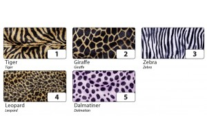 Dekoratyvus pliušas lipdukas 50x70 cm. tigras Nr1.