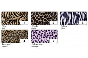 Dekoratyvus pliušas lipdukas 50x70 cm. zebras  Nr3