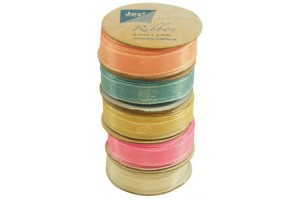 Organza ribbon set 6 mm., 5 rolls