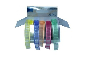 Ribbon sheer check jacguarded