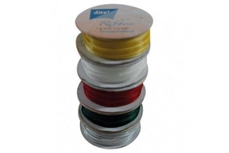 Organza ribbon set 6 mm., 5 rolls