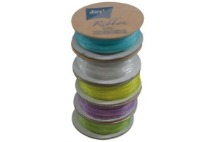 Organza ribbon set 3 mm., 5 rolls