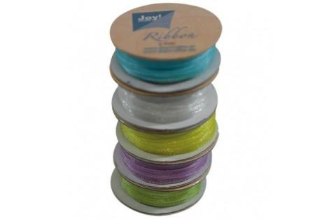 Organza ribbon set 3 mm., 5 rolls