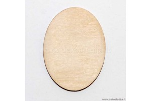 Base for brooch oval 4x3 cm. 2-57