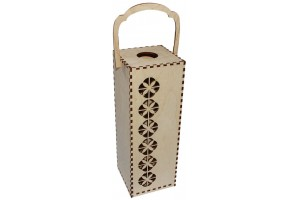 Wine box with ornaments 28,3x10x10 cm. VYN2