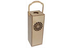 Vyno dėžė su ornamentu 28,3x10x10 cm. VYN4
