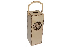 Wine box with ornaments 28,3x10x10 cm. VYN4