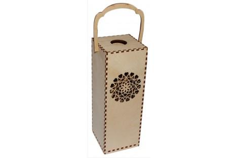 Wine box with ornaments 28,3x10x10 cm. VYN4
