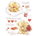 Craft clear stamps  10,5x10,5 cm.