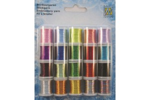 Metallic yarn 20 units embroidery