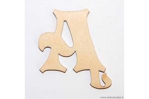 Medinė raidė Ą (5 cm)