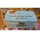 Wooden tin box 19,5 x 11,8 x 10,2 cm.