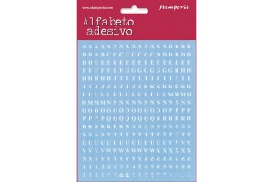 Mini alphabet 306 pcs. light blue background