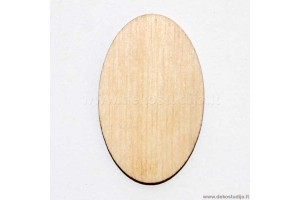 Base for brooch oval 4x2,5 cm. P2-60