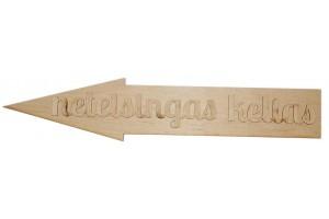 Medinė dekoracija Rodyklė Neteisingas kelias 49,5x10 cm. Gift86B