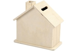 Wooden money box 10,01x10x5,4 cm.