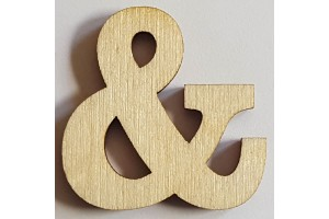 Medinė dekoracija Simbolis & 3 cm. Gift90