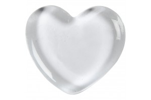 Glass heart  6,5x6,5 cm.