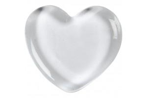 Stiklinė širdis 6,5x6,5 cm.