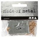 Metaliniai skaičiai 4x2,7 cm. 4 vnt.