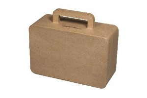 Savings box 15x12.5x6cm.