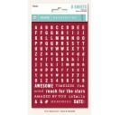 Stickers metallic word/alphas