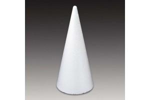 Styrofoam cone 12x27 cm.