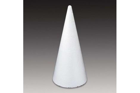 Styrofoam cone 9x21 cm.