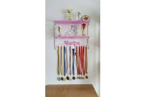 Wooden medal shelf