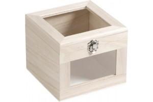 Wooden box 16cmx13cm.