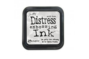 Clear distress embossing ink
