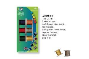 Vielų rinkinys 6  spalvos 6x2,7 m. 0.46 mm.