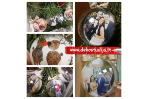 Christmas ball with pfoto