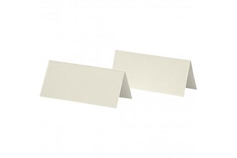 Stalo kortelės dvipusės baltos spalvos 25 vnt. 9x4 cm. 250 g.