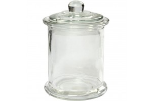 Glass jar 8x14,5 cm.