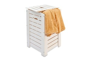 Laundry basket white color  35x35x55 cm.