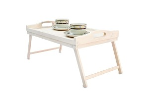 White tray with legs 51x32x24 cm.