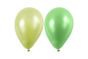 Balionai šviesiai žali  23 cm. 10 vnt.