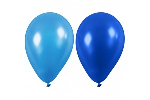 Balionai mėlyni  23 cm. 10 vnt.